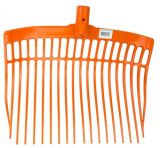 Mestvork kunststof oranje zonder steel